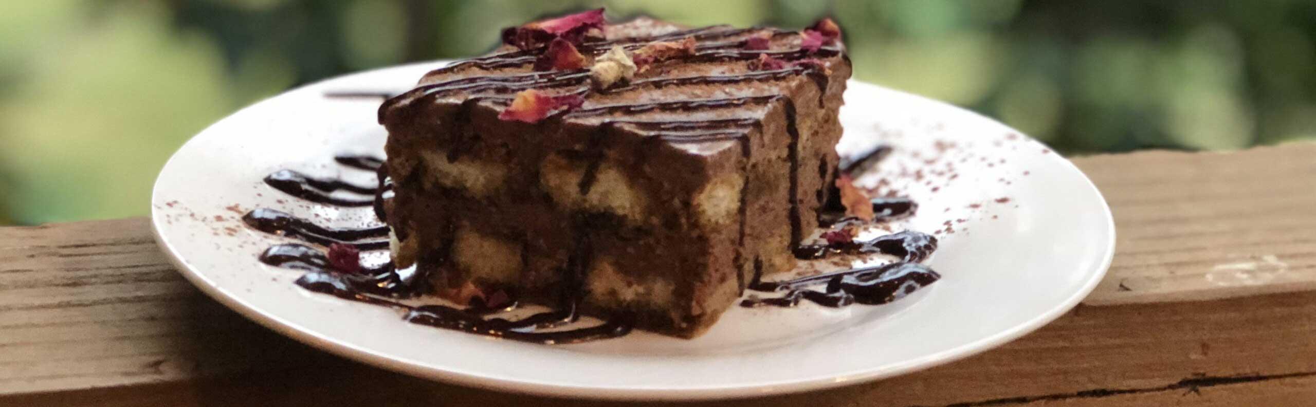 Double Chocolate Tiramisu with Balsamic Sauce