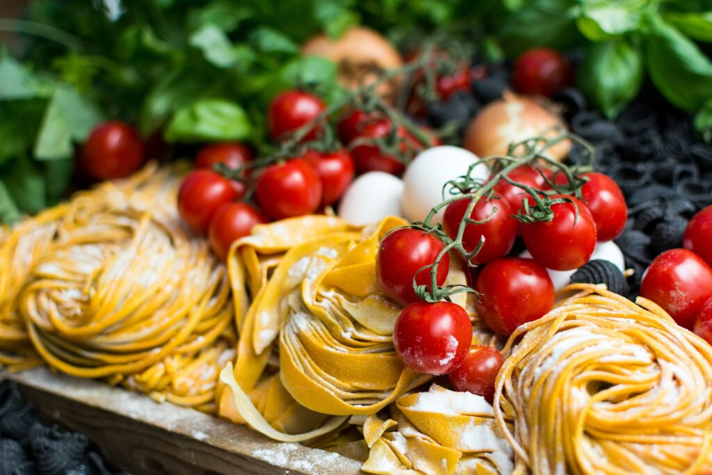Fresh Ingredients of italian cuisine